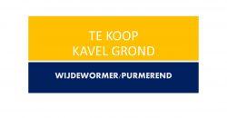 WIJDEWORMER / PURMEREND kavel